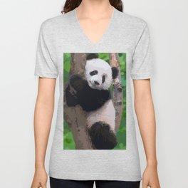 Funny panda Unisex V-Neck