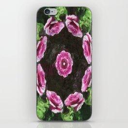 Rosas Moradas 2 Kaleidoscope 3 iPhone Skin