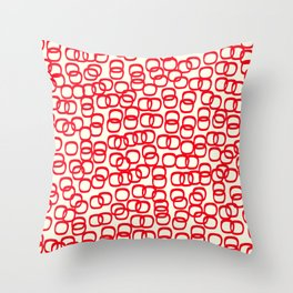 Black Tie Collection Links Red Throw Pillow