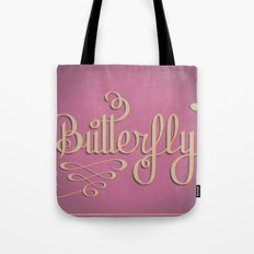 Butterfly Letttering Tote Bag
