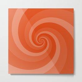 orange vortex Metal Print
