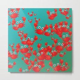 Crab world Metal Print