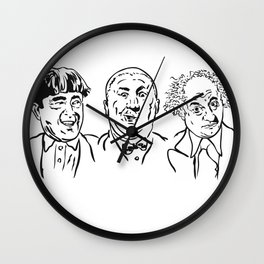 Stooges Moe, Curly and Larry Wall Clock