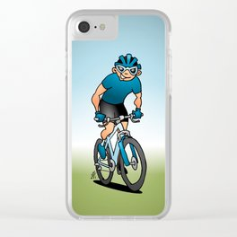 MTB - Mountain biker in the mountains Clear iPhone Case