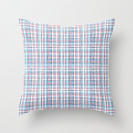 4th of July stripe Throw Pillow