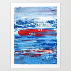 Hunting the Red Whale Art Print