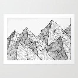 Curving Lines (Mountain Landscape) Kunstdrucke