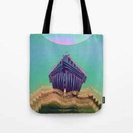 Surfing The Big Wave Searching Mermaids Tote Bag