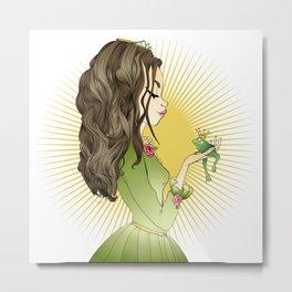 The princess and the frog Metal Print