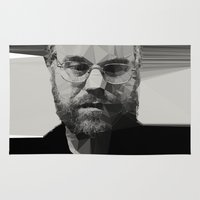 actor Area & Throw Rugs featuring R.I.P Philip Seymour Hoffman by David