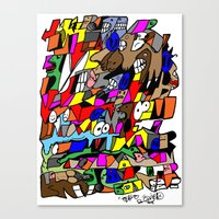 mike tyson Canvas Prints featuring Mike Tyson by ReallyBored