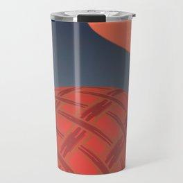 Abstract orange Chinese Lantern illustration  Travel Mug