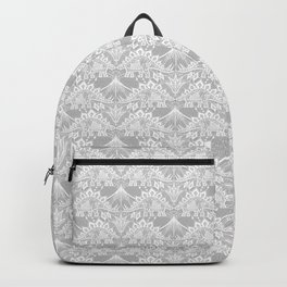Stegosaurus Lace - White / Silver Backpack