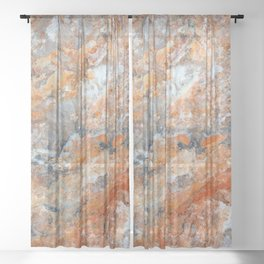 Rusty Rock Textures 47 Sheer Curtain