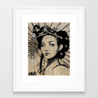 lotus Framed Art Prints featuring lotus by LouiJoverArt