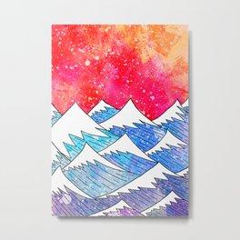 As the waves build Metal Print