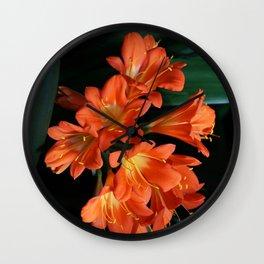 Jungle Floral Wall Clock