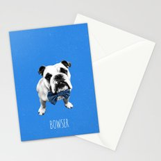 Blue Bowser Stationery Cards