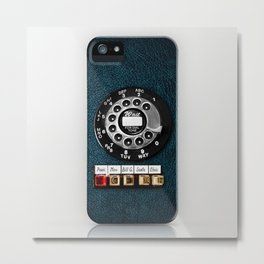Classic Old Dial Phone with Emergency call iPhone 4 4s 5 5s 5c, ipod, ipad case Metal Print