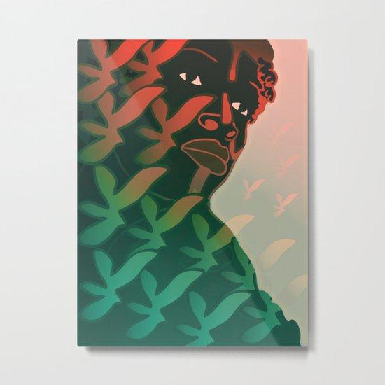 Ebony Green Metal Print