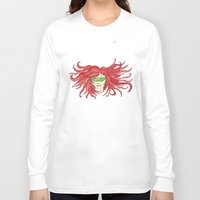 sister Long Sleeve T-shirts featuring Sister by aHattfull
