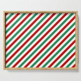 Candycane Red and Green Serving Tray