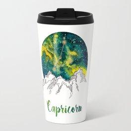 Capricorn Watercolour Painting Travel Mug