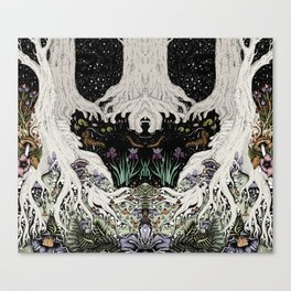 Starry Forest Canvas Print