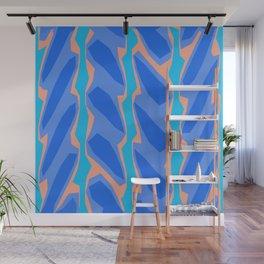 Blue Aqua Pink Crackle Minimal Wall Mural