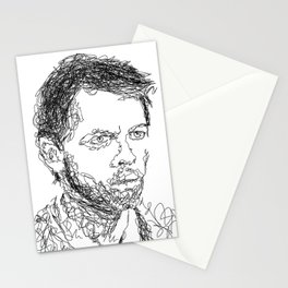Misha Collins - Scribble Portrait Stationery Cards
