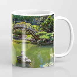 Photos USA San Marino bridge Nature Pond Parks Trees Shrubs Bridges park Bush Coffee Mug