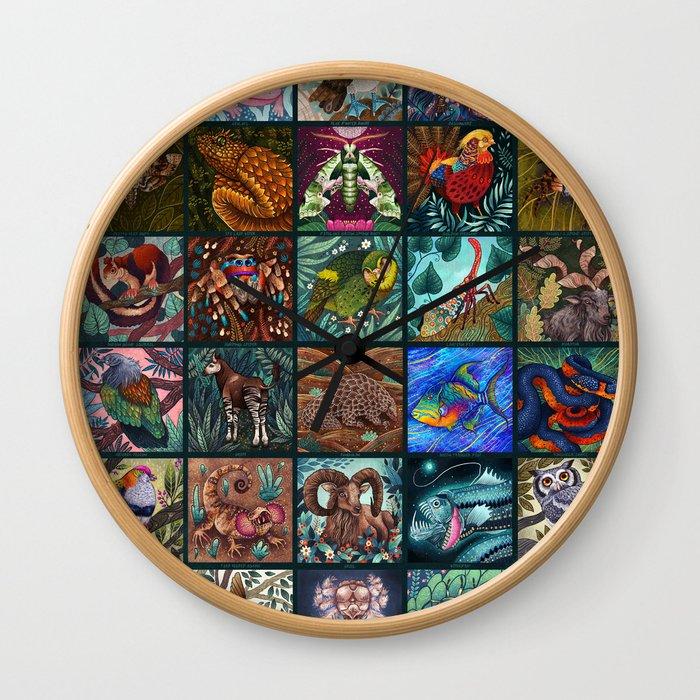 The Unusual Animal Alphabet Wall Clock