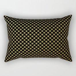 Black and gold dots pattern Rectangular Pillow