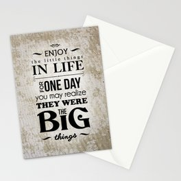 Enjoy The Little Things In Life Qoute Design  Stationery Cards