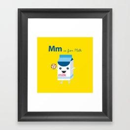 M is for Milk Framed Art Print