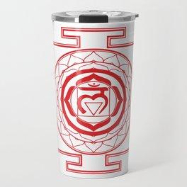 Sri Yantra Root Chakra Travel Mug