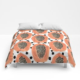 Bold Papayas Comforters