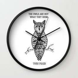 Twin Peaks - The Owls Are Not What They Seem Wall Clock