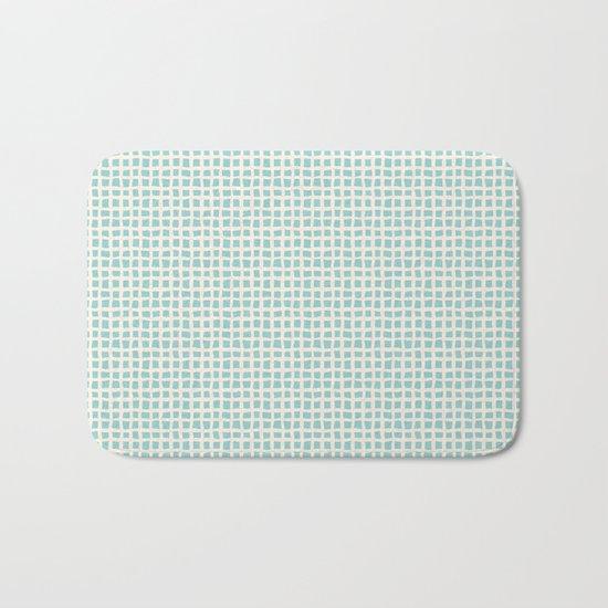 Blue Scribbles Pattern 02 Bath Mat