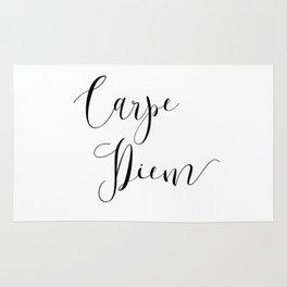 Carpe Diem Minimalist Art Print Rug