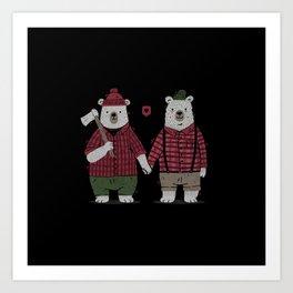 My Bear Valentine Art Print