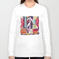 matisse Long Sleeve T-shirts featuring inspired to Matisse t-shirt (violet) by Chicca Besso