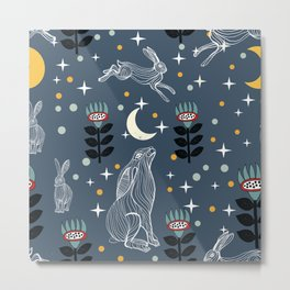 Hare Moon Metal Print