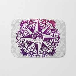 Journey to Moon Mountain | Purple & Magenta Ombré Bath Mat