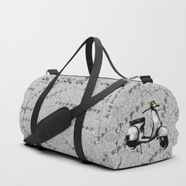 White Vespa Scooter Duffle Bag