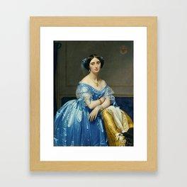 Portrat of the Princess In Blue Framed Art Print