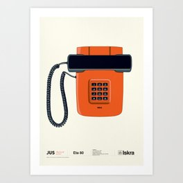 Telephone Eta80 - Iskra Art Print