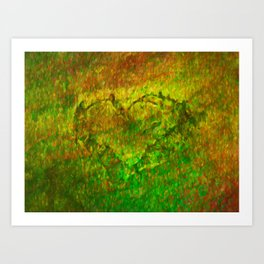 The Heart - Painting by Brian Vegas Art Print
