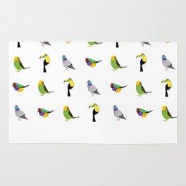 geometric bird print Rug