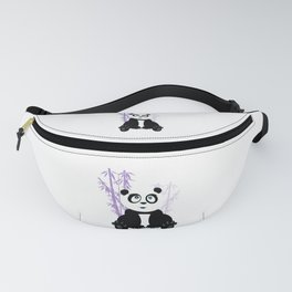 Panda Girl - Purple Fanny Pack
